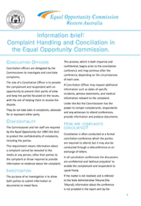 EOC - Conciliation - Information Brief - Cover