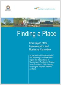 Finding a Place - Final Report of the Implementation and Monitoring Committee 2011