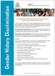 Gender History Discrimination Fact Sheet