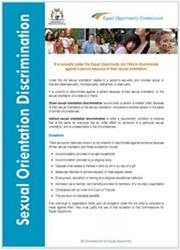 Sexual Orientation Discrimination Fact Sheet