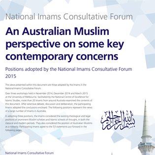 An Australian Muslim perspective on some key contemporary concerns